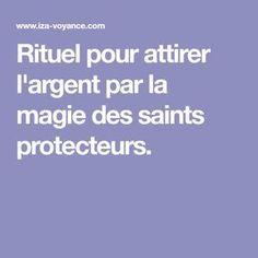 Rituel pour attirer l'argent par la magie des saints protecteurs.