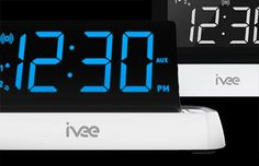 """Focused on delivering a unique """"personal assistant"""" experience between user and machine, ivee products are designed for convenience in the present and integration with the future. Program your alarm with just your voice, or simply ask about the weather, and your clock will promptly respond!"""