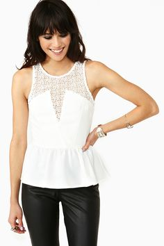 Laced Peplum Top http://youblue.co/