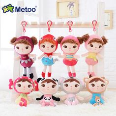 Stuffed Brinquedos Backpack Sweet Cute Pendant Baby Kids Toys for Girls Birthday Christmas Bonecas Keppel Doll Plush Metoo Doll //Price: $9.95 & FREE Shipping //     #educationaltoysforkids