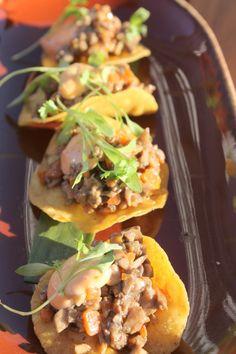 Image via Jessica Moseley Gordon Fairfield County, Stamford, Tostadas, Connecticut, Stuffed Mushrooms, Dining, Ethnic Recipes, Image, Food