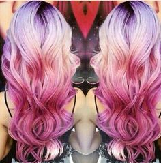 Beautiful colorful ombré