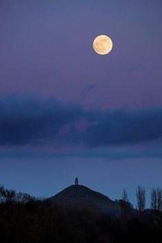 Glastonbury Moon - http://www.somerset-photography.co.uk/glastonbury-tor.html