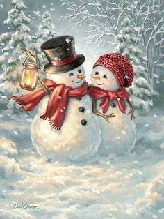 Winter /Weihnachten/Neujahr Winter / Christmas / New Year Year Christmas Snowman, Christmas Time, Christmas Crafts, Merry Christmas, Christmas Decorations, Christmas Ornaments, Xmas, Winter Christmas Scenes, Vintage Christmas Cards