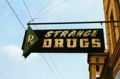 STRANGE DRUGS neon sign #vintage #neon