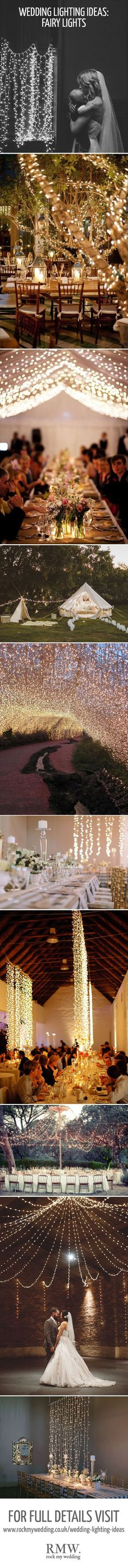 Fairy Light Inspiration For Wedding | http://www.rockmywedding.co.uk/gorgeous-lighting-ideas-wedding-day/