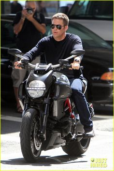 hello lover. Chris Pine: 'Jack Ryan' Motorcycle Man!