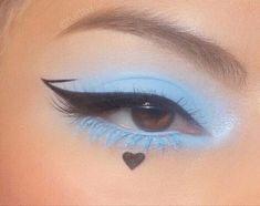 Image about love in makeup by 𝔃𝓪𝔂 on We Heart It Indie Makeup, Edgy Makeup, Makeup Eye Looks, Eye Makeup Art, Pretty Makeup, Skin Makeup, Eyeshadow Makeup, Crazy Eyeshadow, Korean Eye Makeup