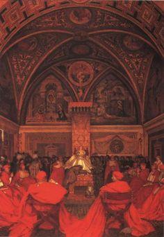 Frank Cadogan Cowper | ... Absence of Pope Alexander VI by Frank Cadogan Cowper :: artmagick.com