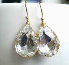Bridal Earrings Bridal Dangles Bridal Chandeliers by SevenDiamonds, $35.00