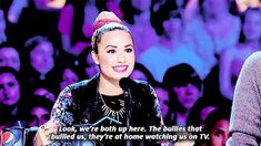 Demi Lovato life lessons; she is my biggest inspiration & she helps me to stay strong & taught me to embrace myself! I love her so much! <3