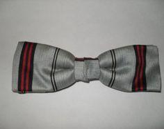 Vintage 1950's gray clip-on bowtie - Edit Listing - Etsy