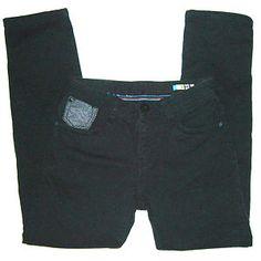 Mens Size 32x20 Fleece Lined Super Skinny Skater Jeans, L.Brenn, Black Colored. $3.99