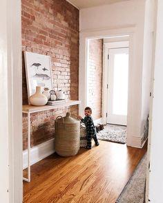 Home brick interior, interior ideas, brick wallpaper, wallpaper ideas, expo Interior Design Living Room Warm, Brick Interior, Room Interior, Interior Ideas, Exposed Brick Walls, Bedroom Wall, Home Decor Inspiration, Console, House Design