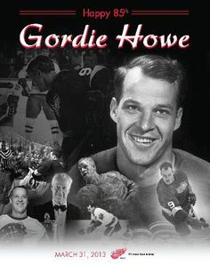 – The Detroit Red Wings will celebrate the birthday of Mr. Hockey, Gordie Howe, when the team faces off against the Chicago Blackhawks on Su. Hockey Birthday, 85th Birthday, Happy Birthday, Blackhawks Hockey, Chicago Blackhawks, Hockey Games, Hockey Players, Detroit Hockey, Sports Figures