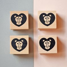 Lion Heart Wooden Ink Stamps. Perfect for letters, cards and parcels.