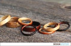 From James Nord (United States): Bojt Studio Bent Wood Rings