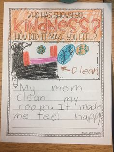 A classroom guidance lesson on Kindness