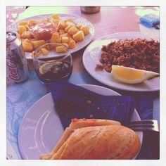 Tarragona, spain. Costa brava. Bravas y chipirones. Lifestyle