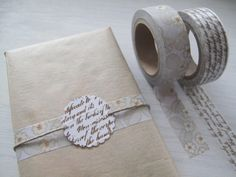 Elegant gift box with washi tape - www.littlehannah.net