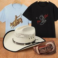 For+over+thirty+years,+Western+Express+has+been+a+trusted+purveyor+of+quality+western-themed+apparel.+From+hats+and+caps+that+are+as+stylish+as+they+are+practical+to+tried-and-true+classic+shirts,+pants+and+accessories,+their+designs+are+never+out+of+fashion.+Now+little+wranglers+can+get+into+cowboy+style+with+Western+Express's+line+of+durable+kids'+apparel.