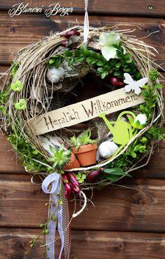 Türkränze - :::: Türkranz Herzlich Willkommen 3.0 :::: - ein Designerstück von BlumereiBerger bei DaWanda