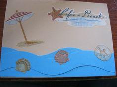 Life's a Beach handmade card by Kjones