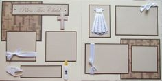 BLESS THIS CHILD baby GiRL 12x12 Premade Scrapbook Pages BaPTiSM DeDiCaTioN