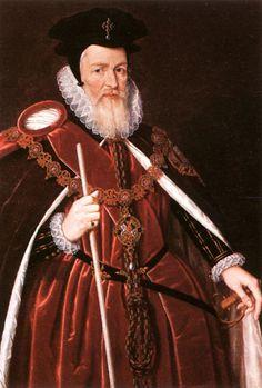 William Cecil by an unknown artist. c. 1585      NPG London