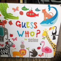 Ooh yes Guess Who? I spy Mr Fox fabric too lovely #scion #harlequin #fabric #curtains #bespoke