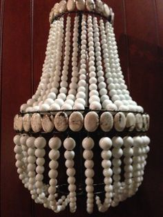 ChandelierLighting Empire SconceWhite Glass Beads by ManoliDesigns, $399.00