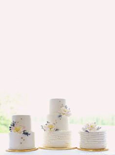 Rustic Ruffle & Stars Cake Trio  |  by Wild Orchid Baking Co  |  TheCakeBlog.com