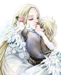 Saint Seiya - Chibi Hyôga & his mum