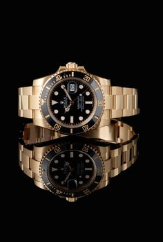 #ROLEX SUBMARINER ROLEX SUBMARINER DATE YELLOW GOLD WATCH WITH BLACK DIAL Rolex Submariner - the Archetype of the Diver's #Watch. A Perfect Partner on Land or in the Sea. Rolex Invented the Submariner to work Perfectly 660 Feet under the Sea. It Seems to Work Pretty Well at any Level.