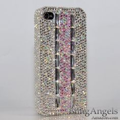 3D Swarovski Luxury AB Crystals Bling Case Cover for iphone 4 / 4s 100% Handcrafted by BlingAngels by BlingAngels. $45.95. Unique Design & Superb Quality that you will NOT find elsewhere! GUARANTEED! Materials: Mix of 100% Authentic Swarovski Crystals + High quality *Bling* Australian Crystals. 100% Handcrafted: THIS ITEM IS 100% CUSTOM HANDCRAFTED BY A PRO ARTIST WITH 5+ HOURS OF WORK! NOT made by Home DIY Amateurs. How to put them on: Snaps On and Off easily, NO t...
