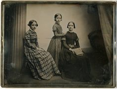 Southworth  Hawes daguerreotype of an unidentified group of three young women, ca. 1856
