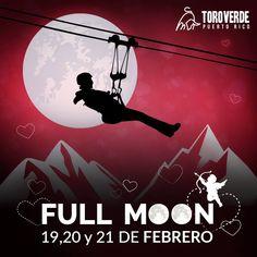 Valentine's Full Moon #sondeaquipr #valentinesfullmoon #toroverde #orocovis #toroverdeadventurepark