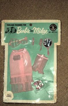 1964 Barbie Fashion Pak Lovely Lingerie..what good is a see thru bra if you have no nipples?