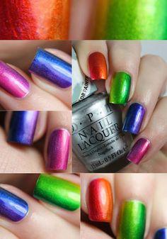 OPI Color Paints •Look Three: Vertical Rainbow Gradient•
