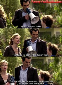 Any Modern Family fans out there has to appreciate all that Phil Dunphy has to offer. He is the best. Make Em Laugh, Laugh Out Loud, Best Tv Shows, Favorite Tv Shows, Favorite Things, Thats 70 Show, Modern Family Quotes, Dc Comics, You Are The Father