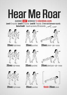Hear Me Roar Workout
