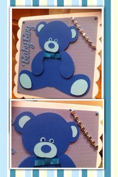 Teddy Bear birth card- boy For my nephew Theodore Alexander born - welcome to the world little man x