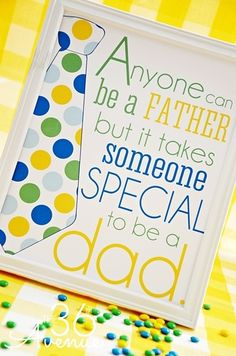 Daily Free Printable:  Frameable Father's Day Word Art (by The 36th Avenue)