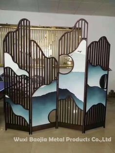 Wuxi Baojia Metal Products Co. Glass Partition, Partition Ideas, Chinese Cabinet, Stainless Steel Screen, Metal Screen, Church Design, Living Room Decor, Interior Design, Tibet