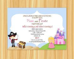 Custom Printable PIRATE and PRINCESS by ThePaperGiraffeShop, $10.00