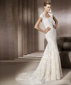 Awesome Trumpet/Mermaid Short-Sleeve Floor-Length Sweetheart Wedding Dresses 2012 Spring Trends