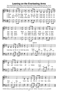 What A Fellowship, What A Joy Divine Leaning on the everlasting arms - Hymnary.org