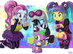 Snapshots by uotapo on deviantART | The ponies in photo finish's band are so cool looking