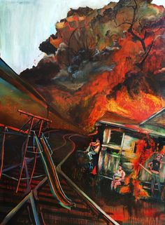 """Chernobyl on the East Side    66"""" X 48"""""""
