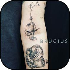 #BRÜCIUS #TATTOO #SanFrancisco #brucius #natural #science #engraving #etching #sculptoroflines #dotwork #blackworkartist #blackwork #penandink #lines #nature #onlyblackart #lineworktattoo  #inprogress  #sleeve #Bosch